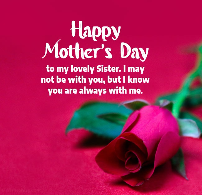 Happy Mother's Day Wishes for Sisters