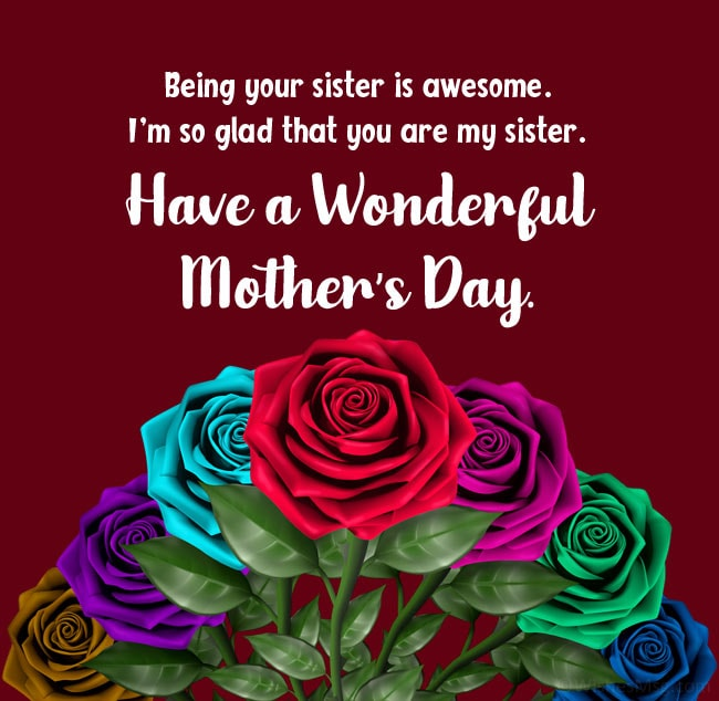 Sister's mother's day wishes