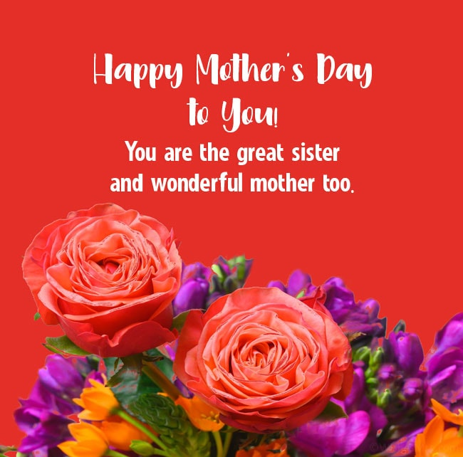 Happy mother's day for sisters