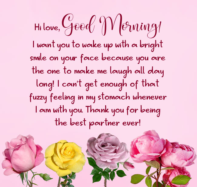Long and sweet good morning message for him