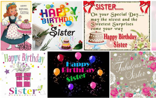 Happy Birthday Sister Best Msgs Images | Top Birthday Wishes For Sister
